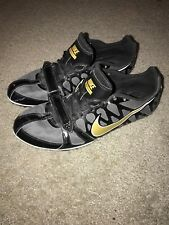 new concept 76042 6a87d Nike Zoom Rival S Sprint Spikes Mens Size 12 Black Gold Camo Bottom 456812- 071