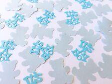 150 Blue teddy bear table confetti Baby Shower Christening Birthday Boy craft