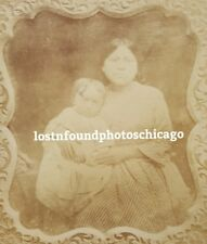 ANTIQUE NATIVE AMERICAN NANNY ATHABASKAN? CABINET CARD PHOTO OF DAGUERREOTYPE
