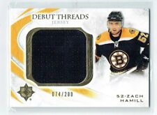 10-11 UD Ultimate Debut Threads  Zach Hamill  /200  Jersey  Rookie