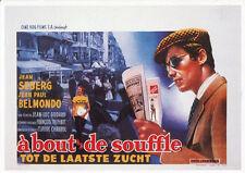 107 CARTE POSTALE film A BOUT DE SOUFFLE deJL Godard avecJean Seberg JP Belmondo