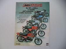 advertising Pubblicità 1978 MOTO MORINI 125/250/350/500