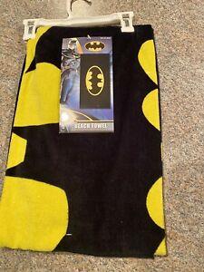 Licensed 2013 Batman Emblem Beach Towel 28x58 Inches DC Comics