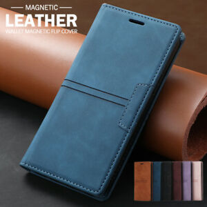 For Samsung S21 S20 FE Note20 Ultra S10 S9 8 Plus Case Leather Wallet Flip Cover