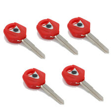 Red Blank Key Uncut Blade For Yamaha XVS650 XV1900 BT1100 MT03 MT01