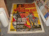 3 Werden für zu Töten Manifesto 2F Original 1959 Cameron Mitchell