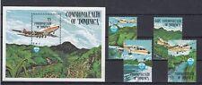 Flugzeuge  Dominica  889-92 + Block 94  ** (mnh)