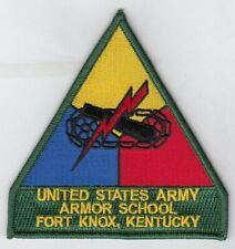 "Us Army Armor School Fort Knox 4"" patch embroidered"