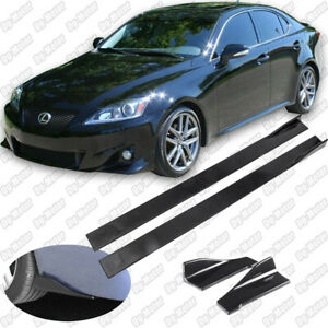 Fit For Lexus IS250 IS200 2005-2012 Side Skirt Extension Rear Deffuser Splitter