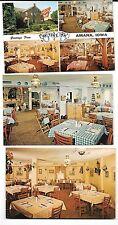 3 Postcards Amana Room Ox Yoke Inn Iowa William Leichenring Circa 1980s