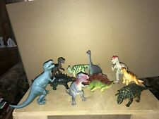 LOT 10 LARGE HARD PLASTIC  ASST DINOSAURS VERY GOOD CONDITION LOT3