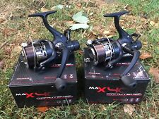 2 X MAX 40 2 BB CARP RUNNER FISHING REELS LOADED WITH 8LB LINE NGT TACKLE