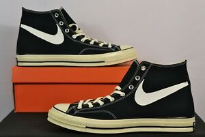 Converse x Chinatown Market Chuck 70 Hi Bootleg Swoosh Authentic Black Sneakers