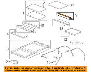 GM OEM Sunroof Sun Roof-Sunshade Shade Cover 20847272