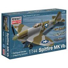 Minicraft 1/144 Spitfire VB Usaaf/raf With 2 Marking Options Plastic Model Kit 1