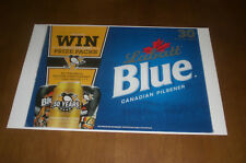 LABATT BLUE BEER PITTSBURGH PENGUINS 50 YEARS 11x17 PRINT