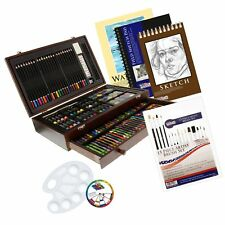 US Art Supply 162 Piece-Deluxe Mega Wood Box Art, Painting & Drawing Set that...