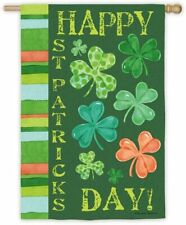 "*New* Evergreen ""Happy St. Patrick'S Day"" Large Double Sided Suede House Flag"