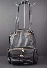 Stanford Style Backpack Laptop Quality Vegan Faux Leather Black G3