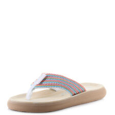 Rocket Dog Spotlight Ladies Womens Toe Post Summer Sandals Thongs Flip Flops UK 4 Bubble Gum Striped