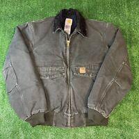 Carhartt Distressed Vintage 90s WorkQuilted JacketSize Medium Olive Green