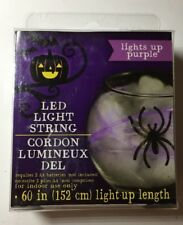 Purple LED String Light / Battery Operated / 5 Foot Strand