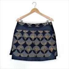THURLEY Mini Skirt Size 12 Black Gold Grey