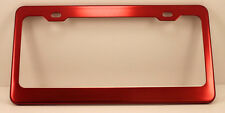 RED Anodized ALUMINUM Standard License Plate Tag Frame