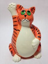 D & J Smallwood Ceramic Pottery Cat Kitty Coin Bank
