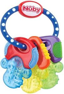 Nuby Icy Bite Keys Teether Refrigerator Safe Multiple Teething Surfaces Baby Toy
