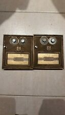 VINTAGE METAL SINGLE EAGLE POST OFFICE MAIL BOX FRONT DOOR  BRASS