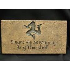 Isle of Man - Manx House plaque - Brand new