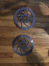 Two Pieces Tektro 160mm Bicycle Rotors Six Bolt Style. Used.