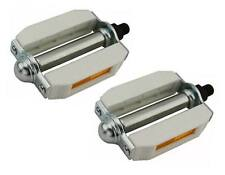 """WHITE BEACH CRUISER PEDALS 1/2"""" for ADULT BIKES FULL SIZE NEW! 202507"""