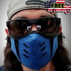 Blue Sub Zero Mortal Kombat Ninja Face Mask Filter Cosplay Costume Halloween