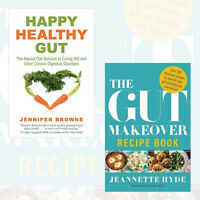 Happy Healthy Gut & The Gut Makeover Recipe Book 2 Diet Books Collection Set New