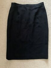 JAEGER BLACK LINED PENCIL SKIRT SIZE UK 16 IN VERY GOOD CONDITION