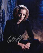 Scully Signed 8x10 Picture Actress The X Files Gillian Anderson Autograph Photo