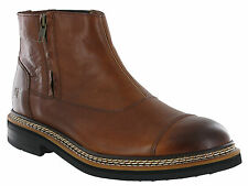 CAT Caterpillar Adner Leather Mens Zip-up Chelsea BOOTS Uk6-12 Rust UK 9