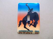 """Mulberry """"COWBOY UP"""" Single Switchplate,Great Color"""