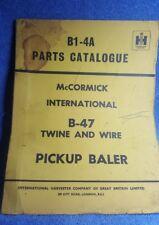 McCormick Internatational B47 B1 4A pickup hay baler parts catalogue