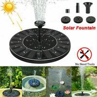 LED Lights Solar Powered Fountain Water Pump Night Floating Garden Bird Bath UK