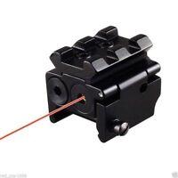 Mini Red Laser Sight Adjustable 20mm Weaver Picatinny Rail Mount For Pistol