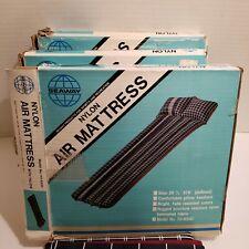 """VINTAGE Nylon AIR Mattress w/ Pillow original Box Seaway 28.5"""" × 76"""""""