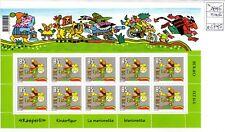 Svizzera Helvetia fumetti la marionetta Kasperli minifoglio