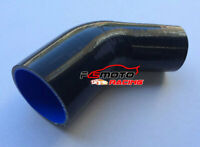 "45 Degree 63-70mm Silicone Reducer Hose intercooler intake Pipe 2.5""-2.75"" black"