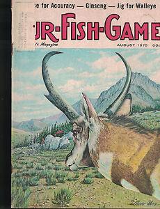 Harding's Fur Fish & Game Magazine August 1978 George Metz Ginseng Walleye