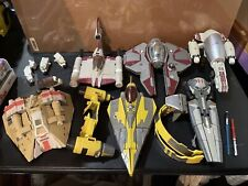 Star Wars Transformers Robot Interceptor Lot of 6 Ships (incomplete)