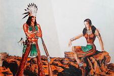 Indians portrait ink drawing