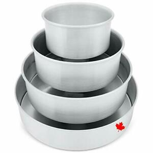 """Crown Cake Pan Set, 6, 8, 10, 12"""" by 3"""", Professional Cake Pans, Heavy Duty,"""